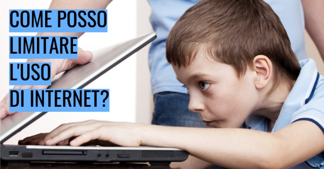 Come posso limitare l'uso di internet?